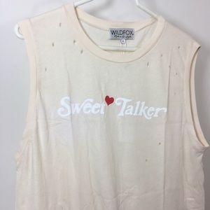 NWT Wildfox graphic T-shirt ' sweet talker'